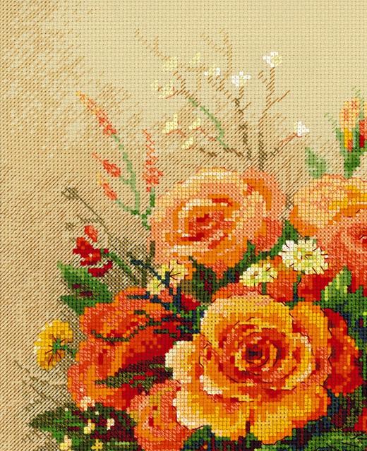 Вышивка чайные розы схема 3