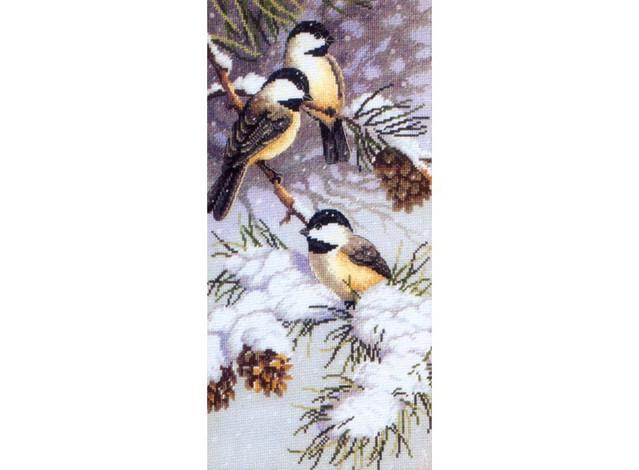 Схема для вышивания птички